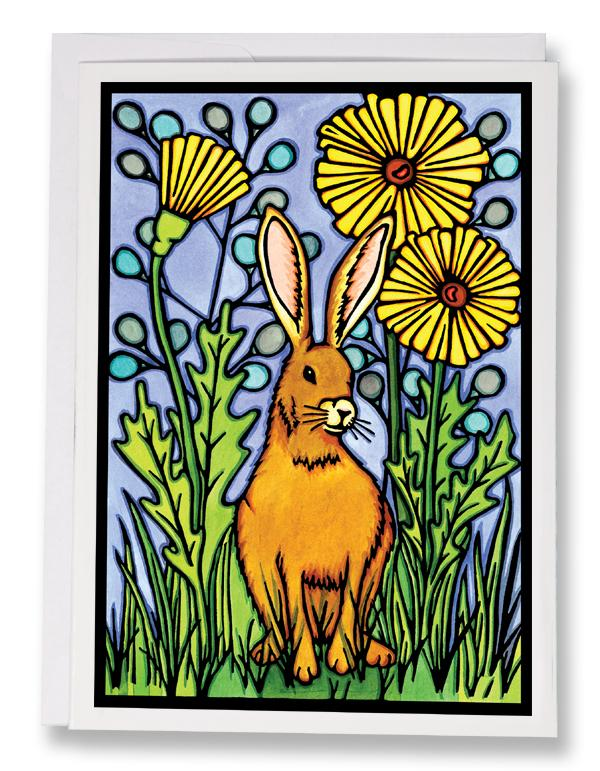 Summer Rabbit - 215 - Sarah Angst Art Greeting Cards, Giclee Prints, Jewelry, More