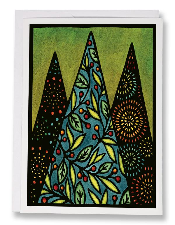 Christmas Trees - 249 - Sarah Angst Art Greeting Cards, Giclee Prints, Jewelry, More