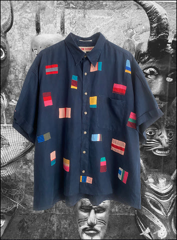 Vintage Flags Linen Shirt