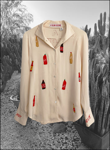 Vintage Hot Sauce Silk Shirt