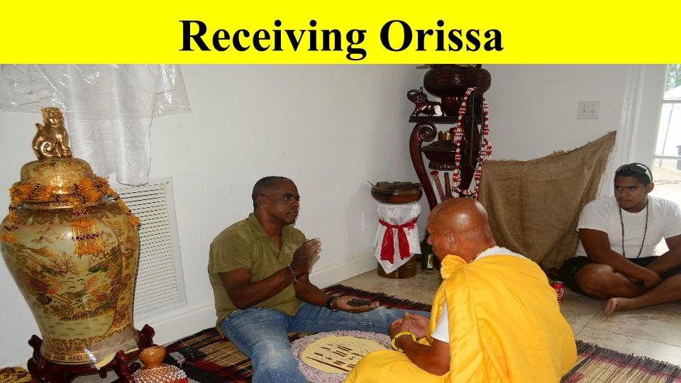 Recieving Orissa