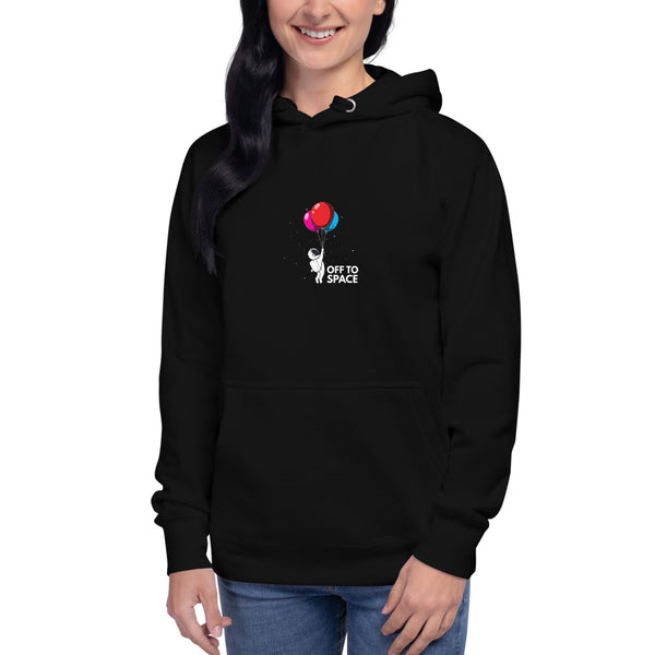 OFF TO SPACE - WOMENS PREMIUM HOODIE