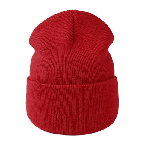 FURTALK Beanie Hat for Women Men Winter Hat Knitted Autumn Skullies Hat Unisex Ladies Warm Bonnet Cap Korean Black Red Cap