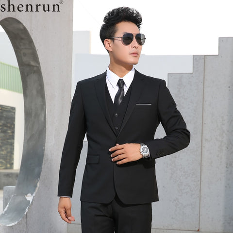 Men Suits Slim Business Casual