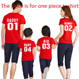 Family Matching Clothes  Family Look Cotton T-shirt DADDY MOMMY KID BABY Funny Letter Print Number Tops Tees Summer