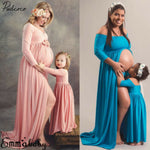 Photography Prop Pregnant Women Maxi Dress Gown Maternity Mother Daughter Match
