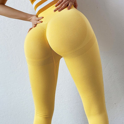 Sexy Women Leggings Bubble Butt Push Up Fitness Legging Slim High Waist Leggins Mujer Seamless Fitness Legging