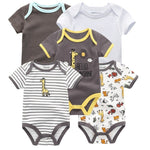 2021 5PCS/Lot Baby Boys Clothes Unicorn Girls Clothing Bodysuits Baby Girls Clothes  0-12M Newborn 100%Cotton Roupas de bebe