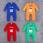2020 Infant Clothes Autumn NewBorn Baby Rompers letter M Clothing Costumes Cartoon Funny Kids Jumpsuit New Born Boys Clothes