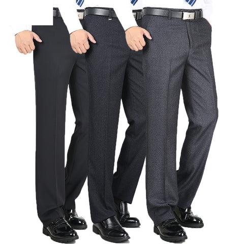 Straight Trousers Men suits