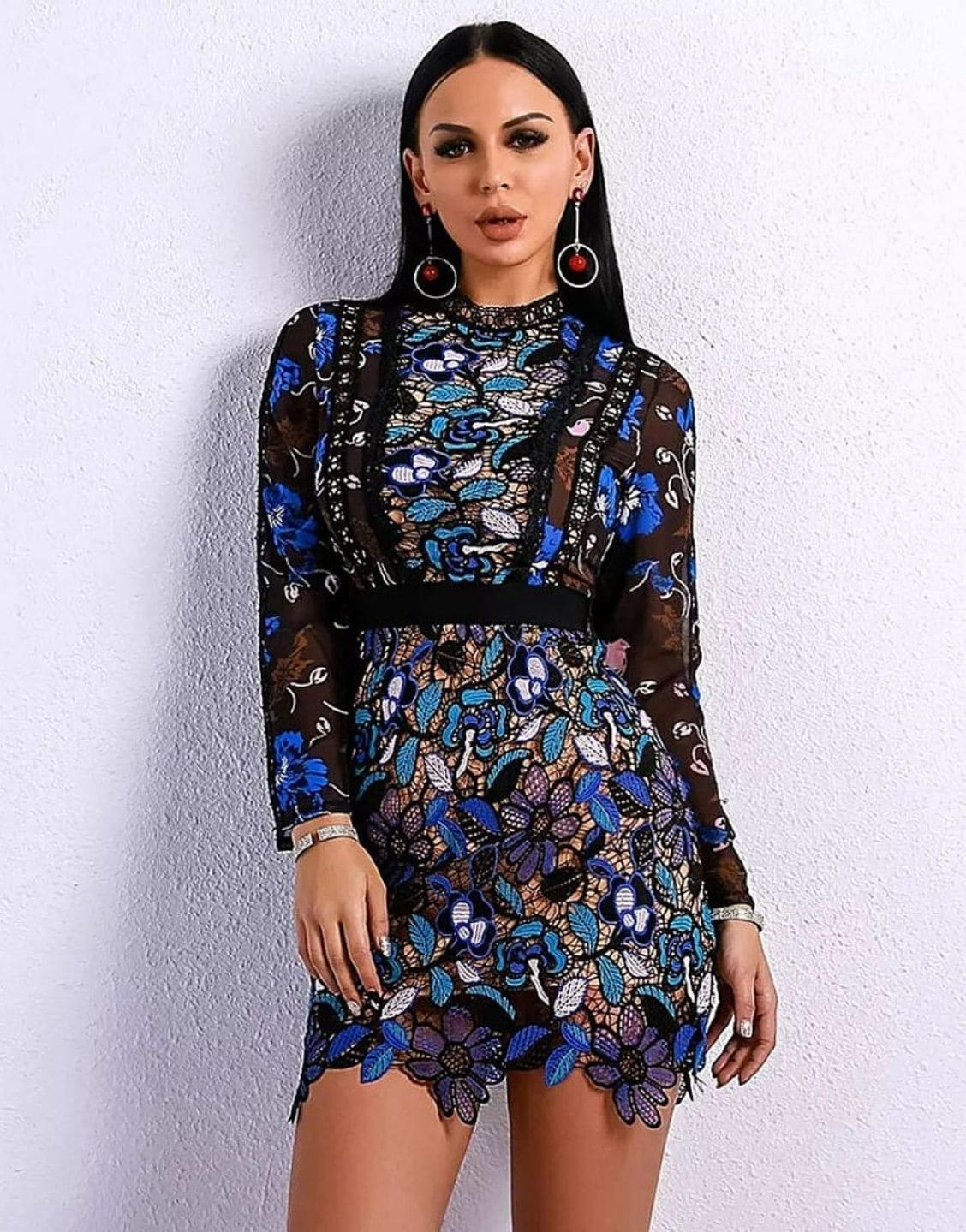 Elegant Patchwork Hollow Out Dress