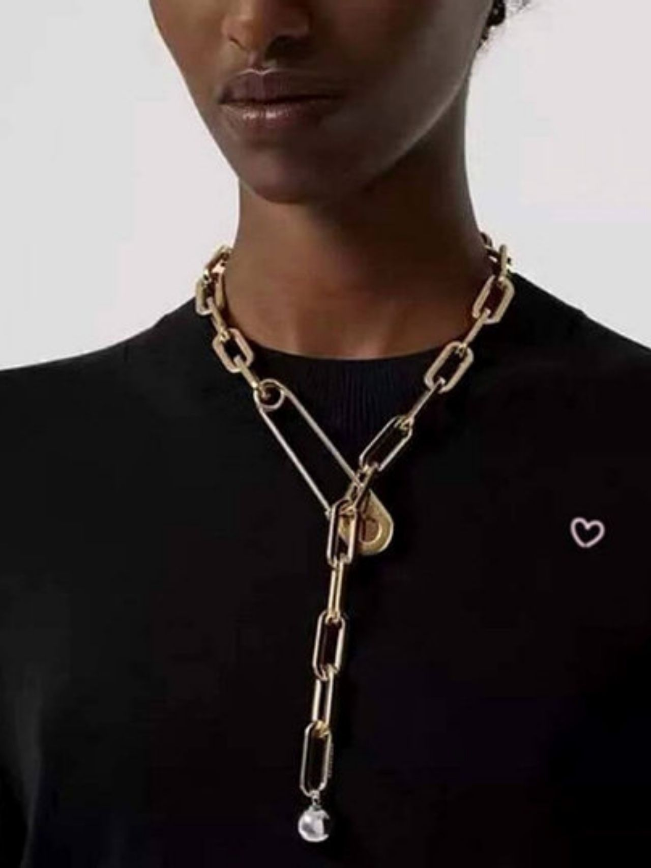 New Exaggeration Personality Lock Chain Necklace