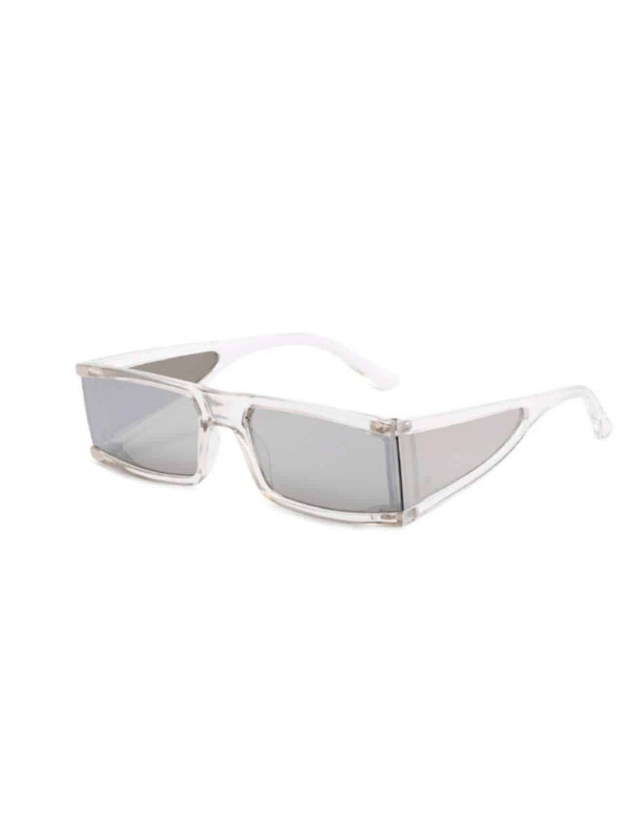 Retro Four Squares Personality Transparent Sunglasses