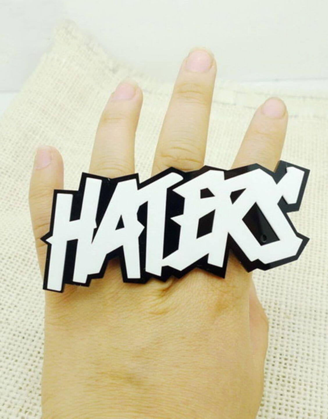 HATERS Fashion Acrylic Adjustable Ring
