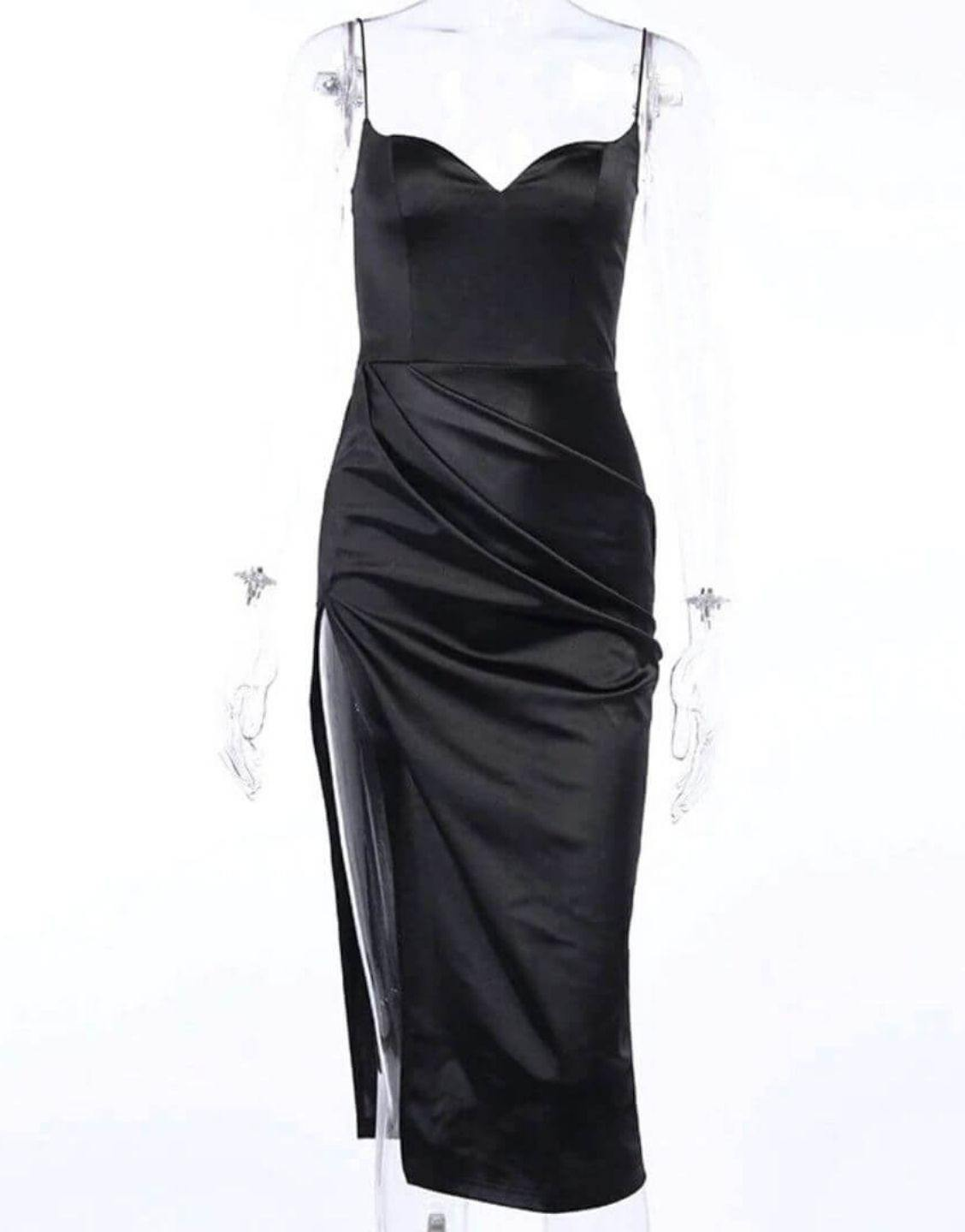 Sexy V-Neck High Split Body-con Evening Dress