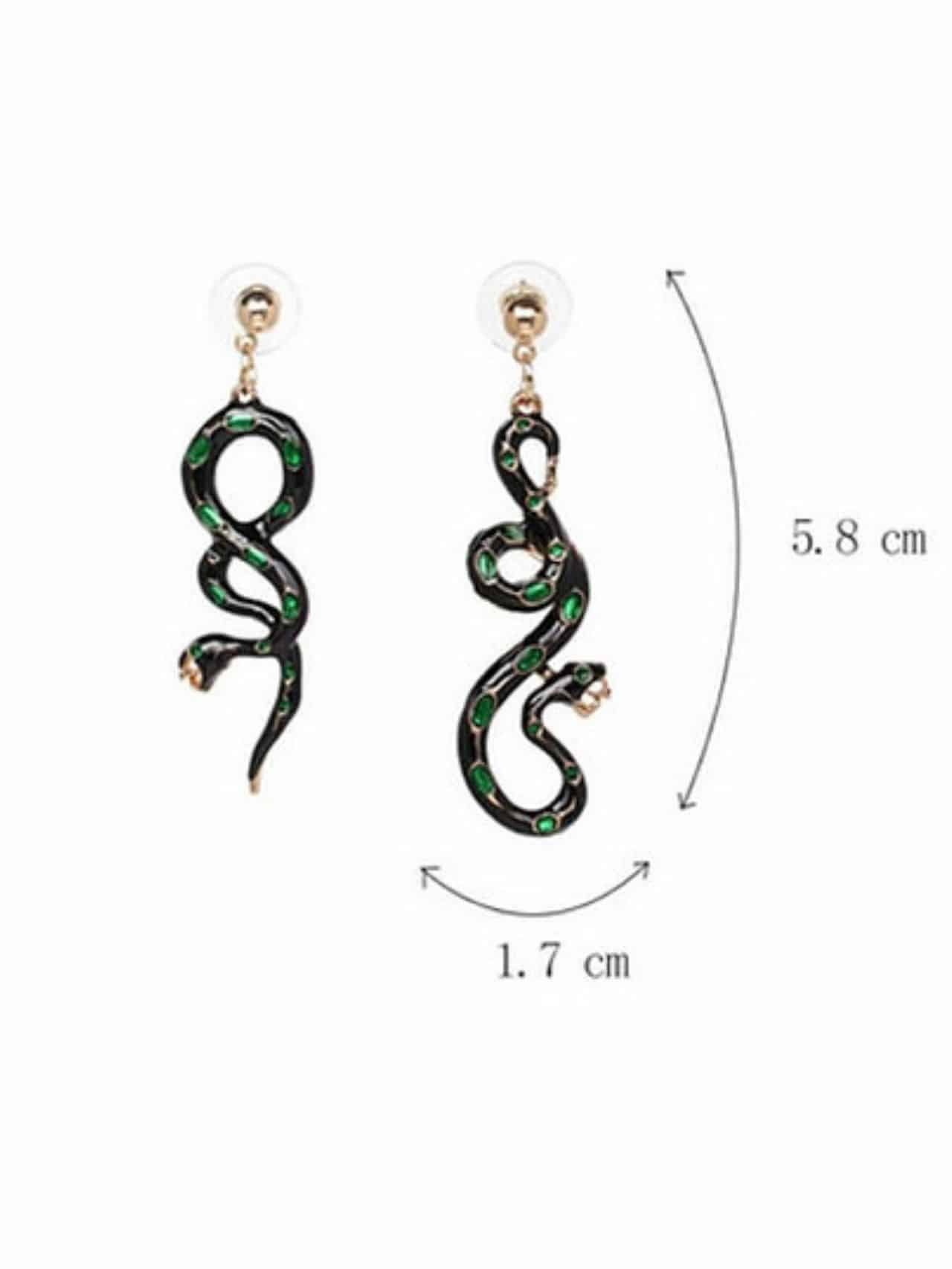 Snake Shaped Drop Dangle Earrings