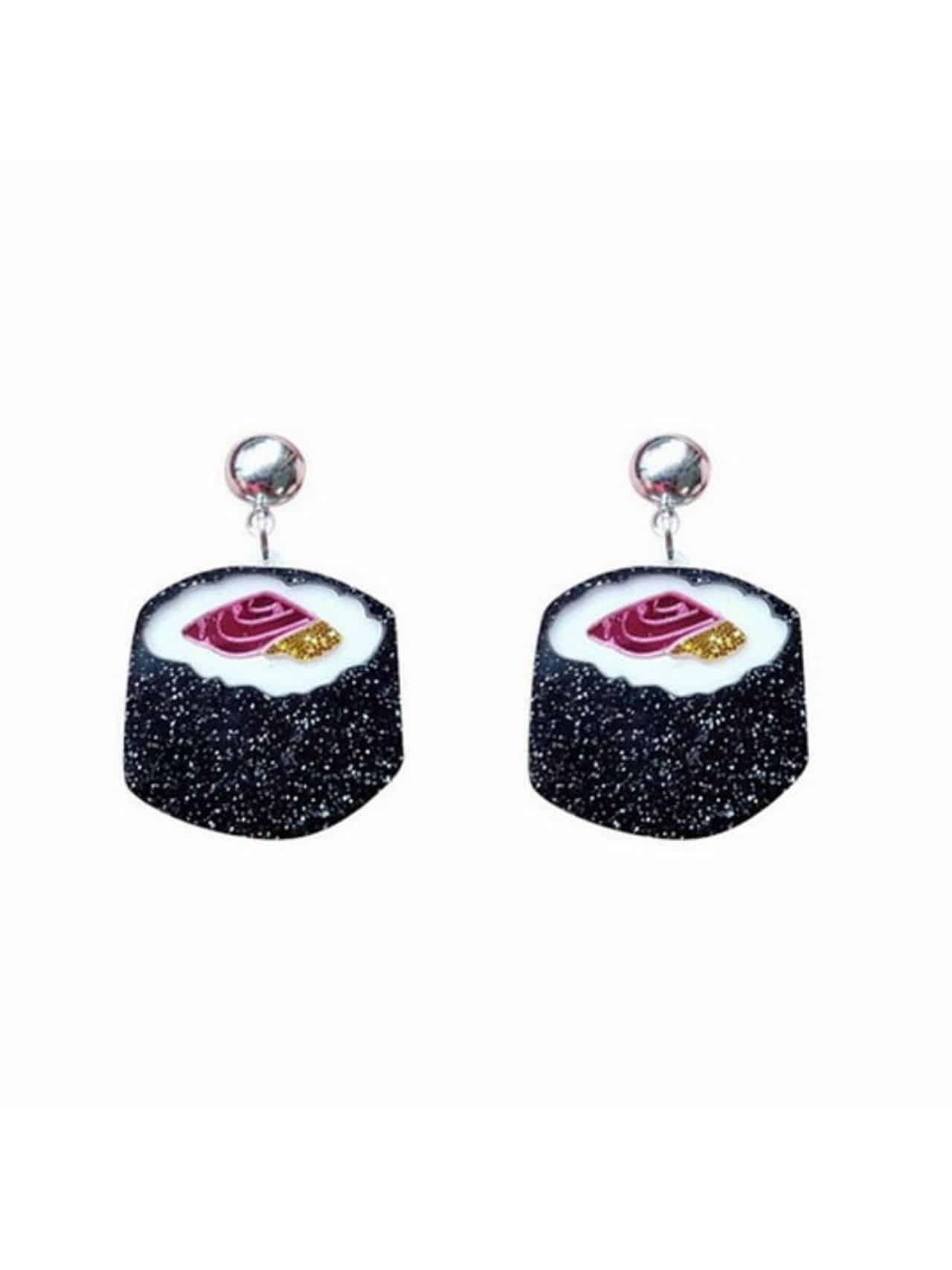Sushi Food Shape Creative Dangle Earrings