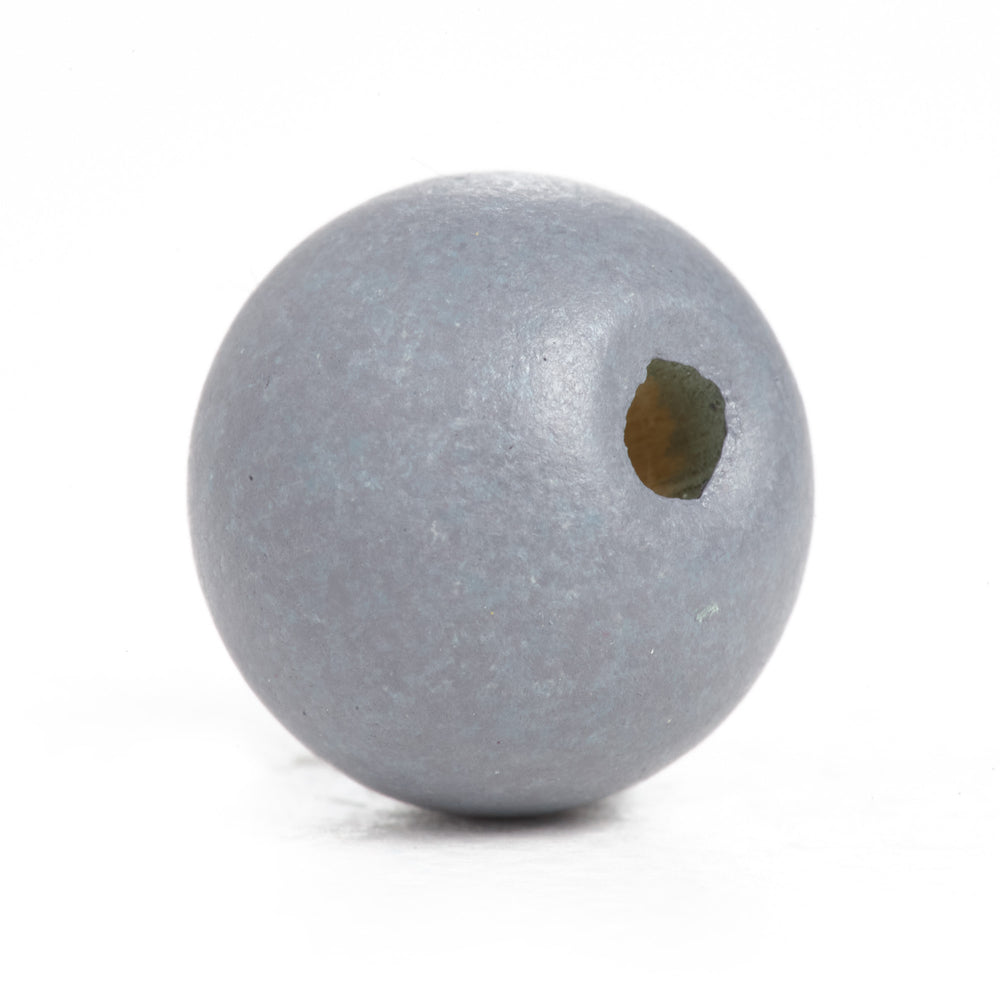600 Grey Round Wood Beads Bulk 10mm x 9mm with 3mm Hole