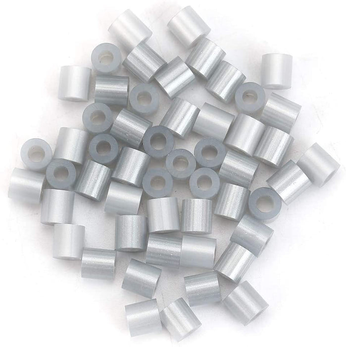2,000 Silver Fuse Beads 5 x 5mm Iron Together Fusion Beads