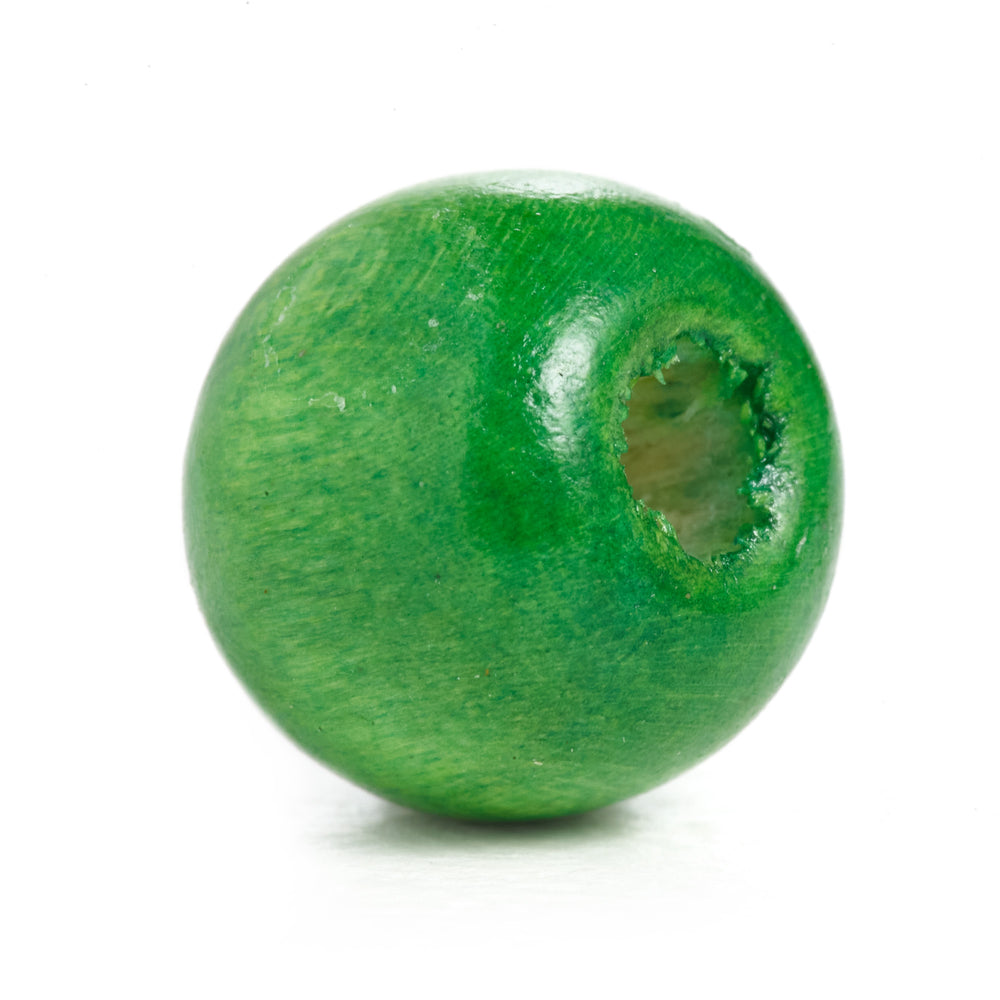 600 Green Round Wood Beads Bulk 10mm x 9mm with 3mm Hole
