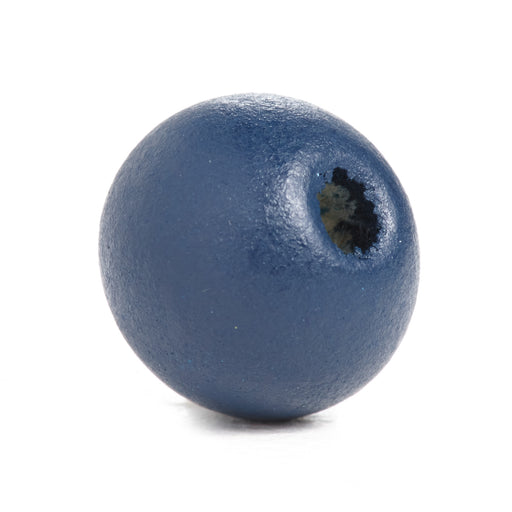 600 Navy Round Wood Beads Bulk 10mm x 9mm with 3mm Hole