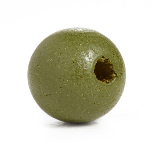 500 Army Camo Green Round Wood Beads Bulk 10mm x 9mm with 3.1mm Hole