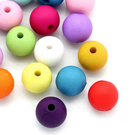 500 Round Assorted Vibrant Pastel Acrylic Beads 10mm with 2mm Hole