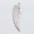 40 Tibetan Silver Angel Wing Charms with Hole 10mm X 30mm