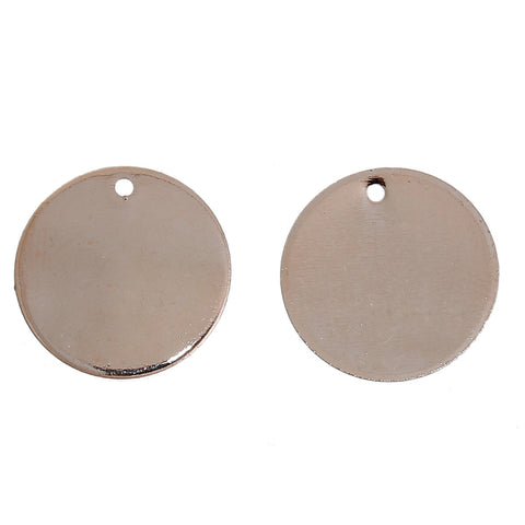 20 Rose Gold Plated Copper Round Metal Stamping Blanks 15mm or 5/8 Inch Diameter