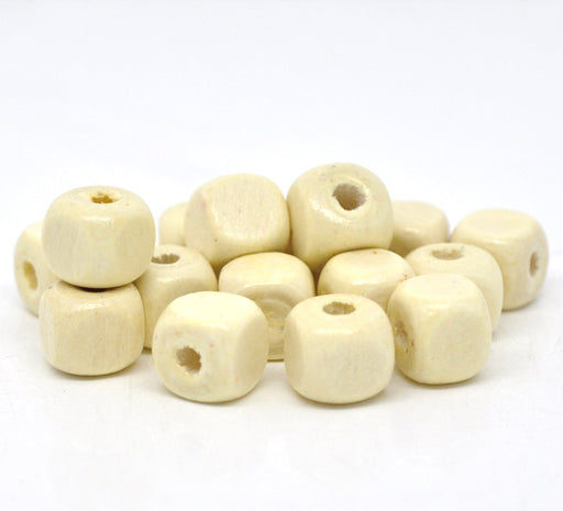 600 Natural Square Wood Beads Bulk 10mm Square Wood Beads with 3mm Hole