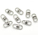 50 Silver Tone Swivel Key Ring Connectors 19 x 9mm (3/4 x 3/8 Inch)