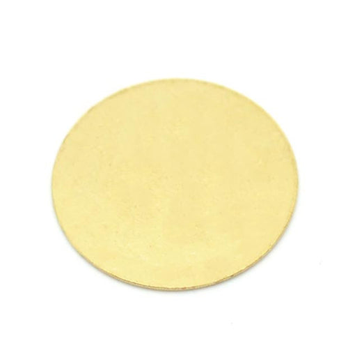 100 Brass Round Circle Stamping Blank Tags for Metal Punching 16mm Diameter By Craft Making Shop