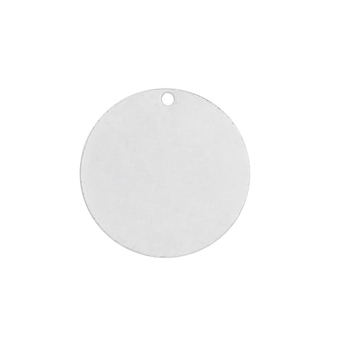 50 Silver Plated Copper Round Circle Stamping Blank Tags for Metal Stamping 15mm Diameter