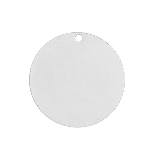 30 Silver Plated Copper Round Circle Stamping Blank Tags for Metal Stamping 20mm Diameter