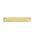 10 Count Gold Plated Rectangle Bar Metal Stamping Blank Tag with Two Holes 38mm x 6mm