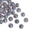 600 Round Acrylic Smoke Grey Crackle AB Spacer Beads 8mm with 2mm Hole
