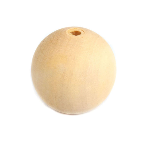 40 Large Round Wood Beads Bulk 30mm with 5.9mm Hole