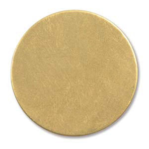 "12 Round Circle Brass 1"" Metal Stamping Blank Engraving Tag 24 Gauge"