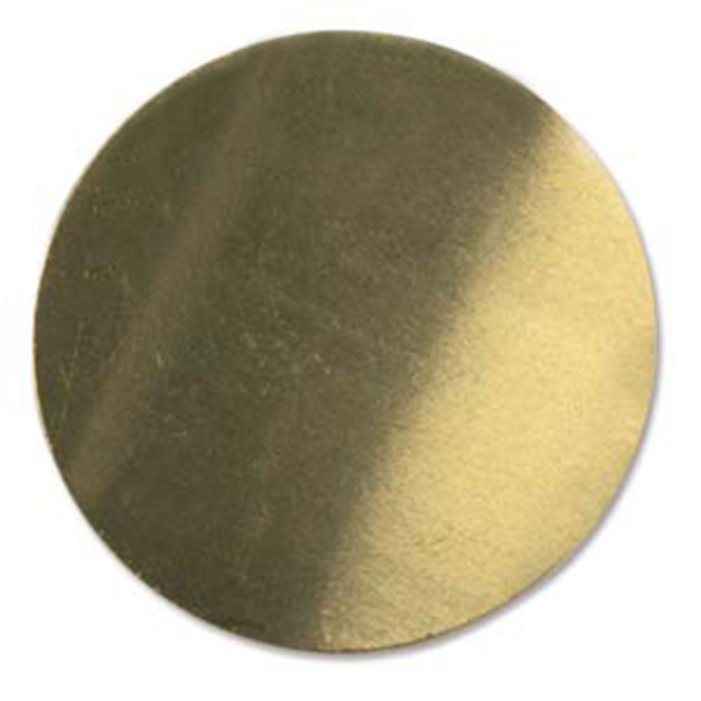 "6 Circle Round Brass 1.5"" Metal Stamping Blank Engraving Tag 24 Gauge"