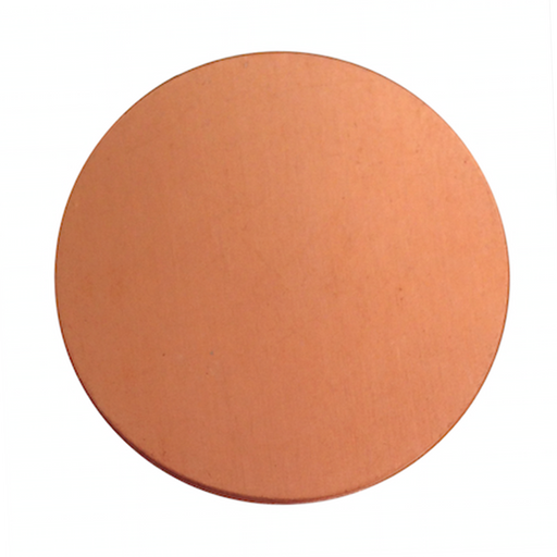 "6 Round Circle Copper 1.5"" Inch Metal Stamping Blank Engraving Tag 24 Gauge"