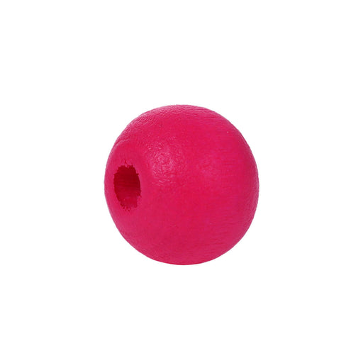 1,000 Painted Hot Pink Wood Round Beads 8mm with 2mm Hole