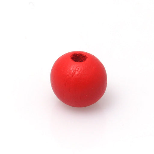 100 Red Round Wood Beads Bulk 16mm with 4.2mm Hole