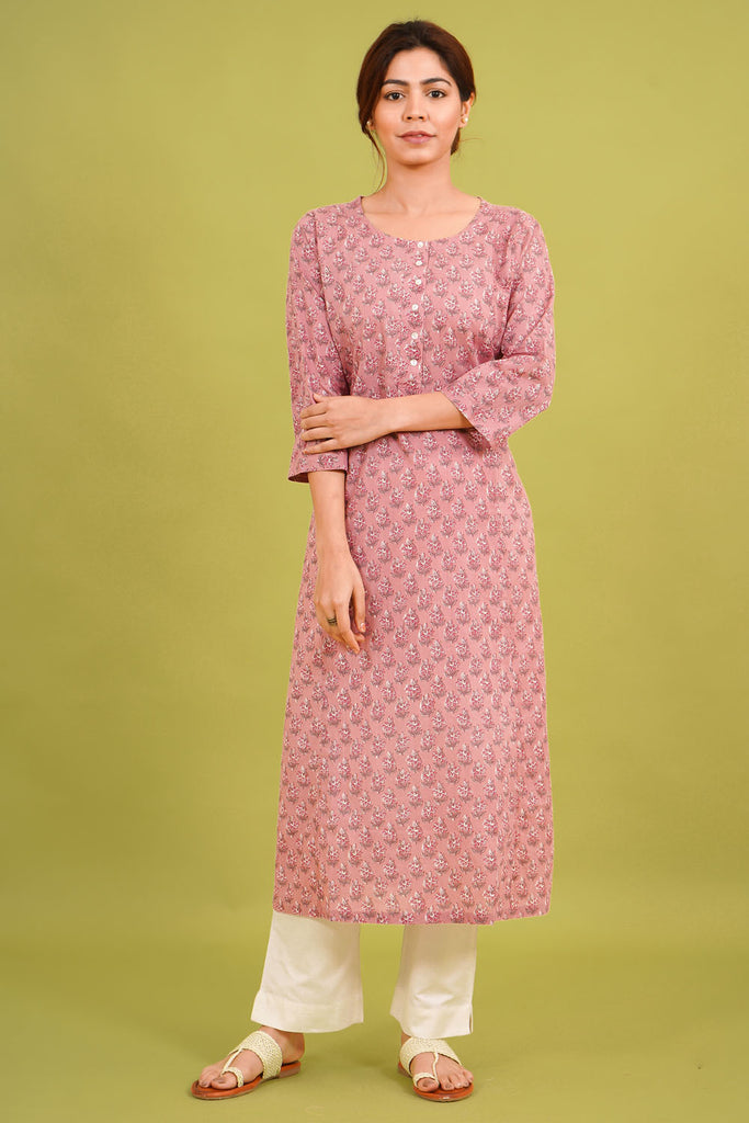 Chacha's 21338 printed cotton kurta