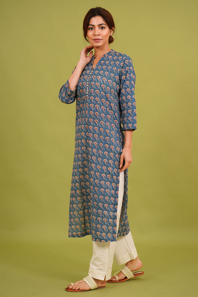 Chacha's 21341 printed cotton kurta