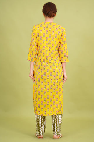 Chacha's 21346 printed cotton kurta set