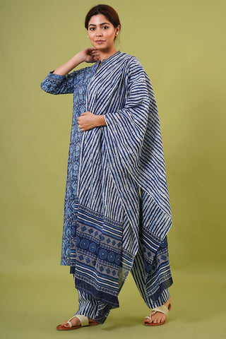 Chacha's 21350 printed cotton kurta set