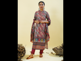 Chacha's 101838 digital printed cotton kurta with palazzo pants and dupatta