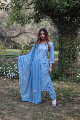 Chacha's 21359 printed cotton kurta set