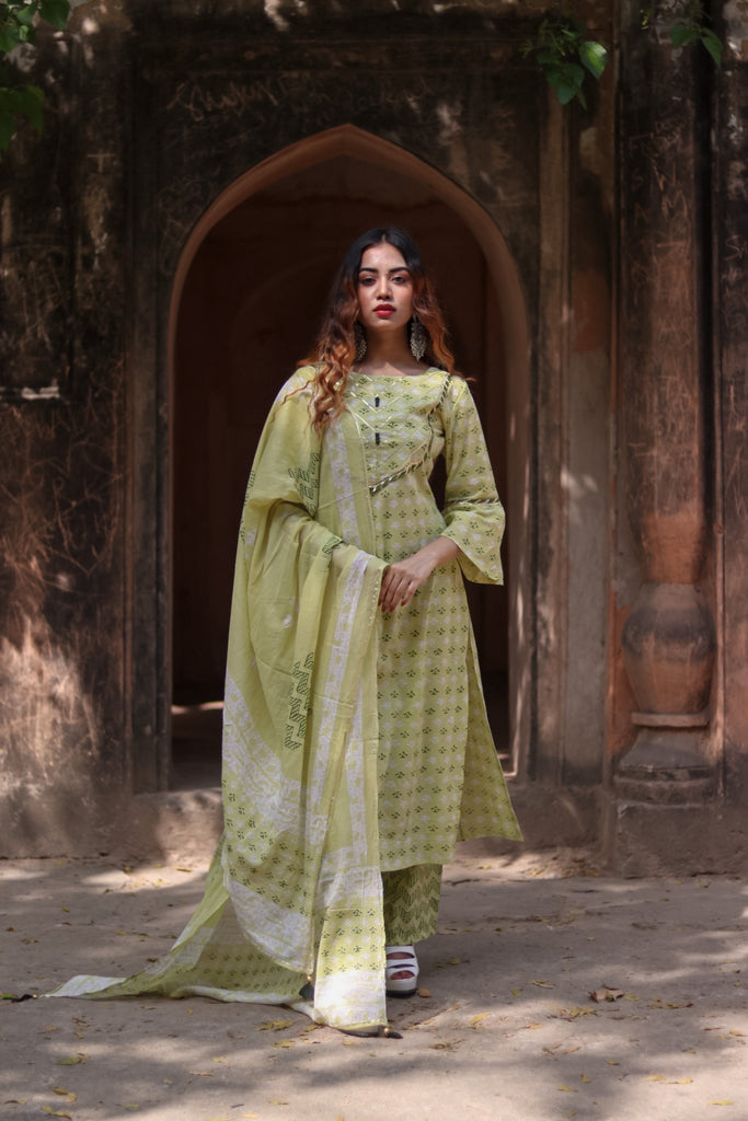 Chacha's 21358 printed cotton kurta set