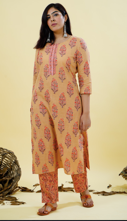 Chacha's 101843 printed cotton kurta set